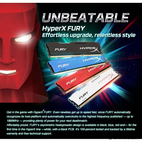 KINGSTON Memory PC 2x 8GB DDR3 PC-15000 [HyperX Fury HX318C10FWK2/16] - Memory Desktop Ddr3